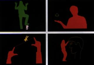 Myron Krueger`s Videoplace is an example from 1975 about the roots of AR