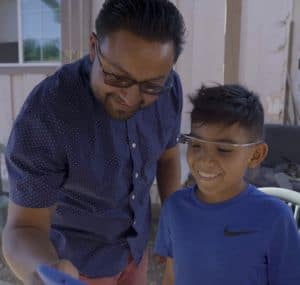 Child Using Google Glass as Part of Stanford Medicine Autism Program