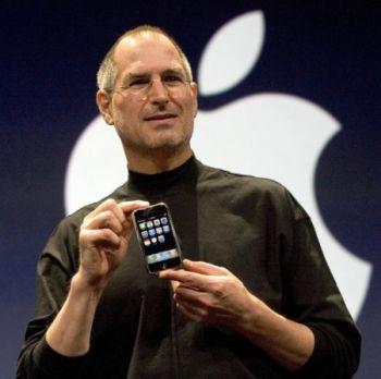 Steve Jobs at iPhone announcment event 2007