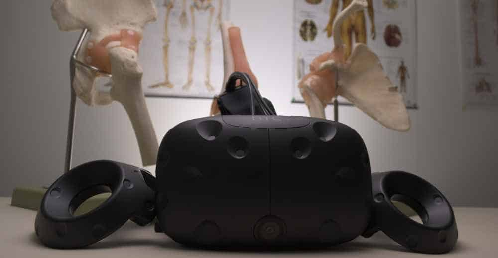 HTC Vive VR Headset With Medical Templates