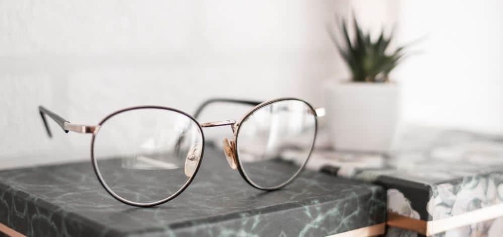 Prescription Glasses on a Box
