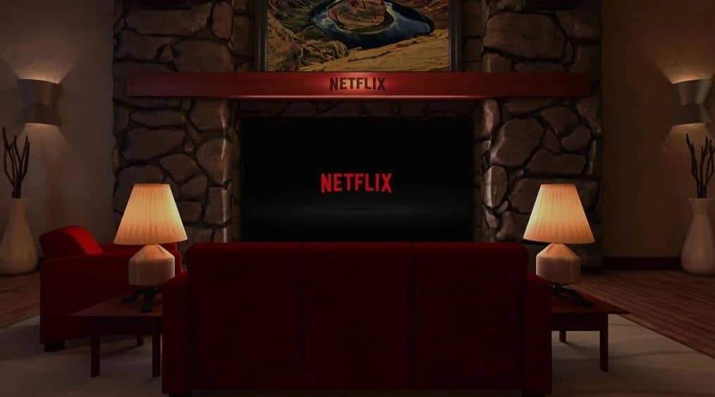 Netflix VR - the virtual room you are placed.