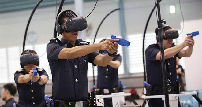 Police Training in VR environment