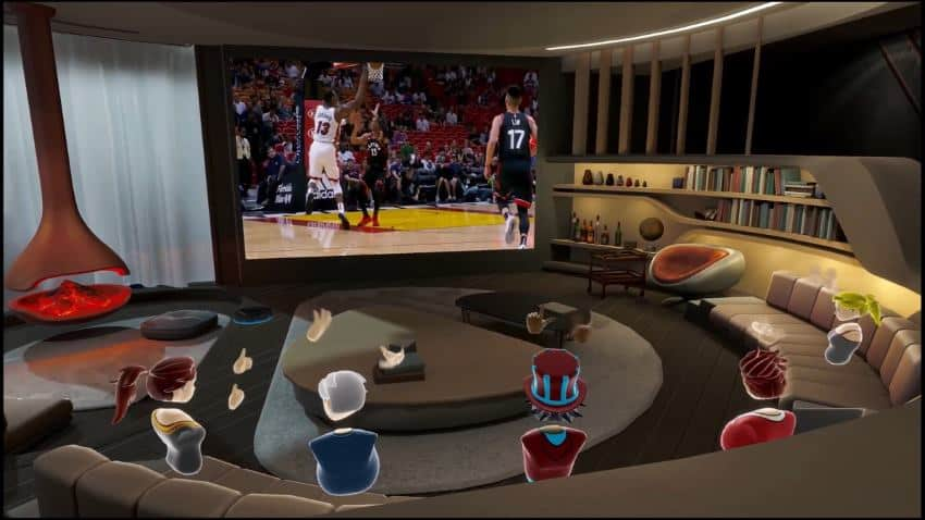 Watching TV in VR