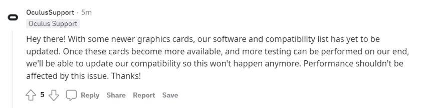Oculus Link Unsupported GPU-s